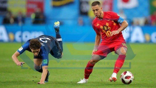 مباراة بلجيكا وفرنسا