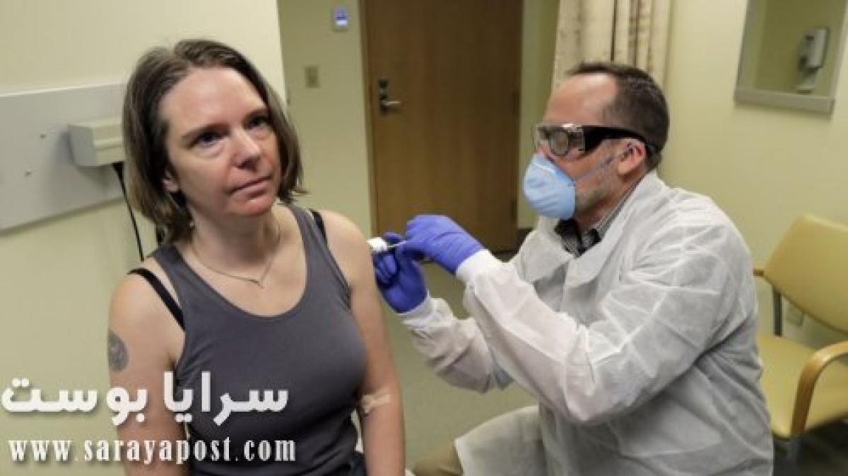 شاهد أول متطوعة في العالم أثناء حقنها بعلاج فيروس كورونا