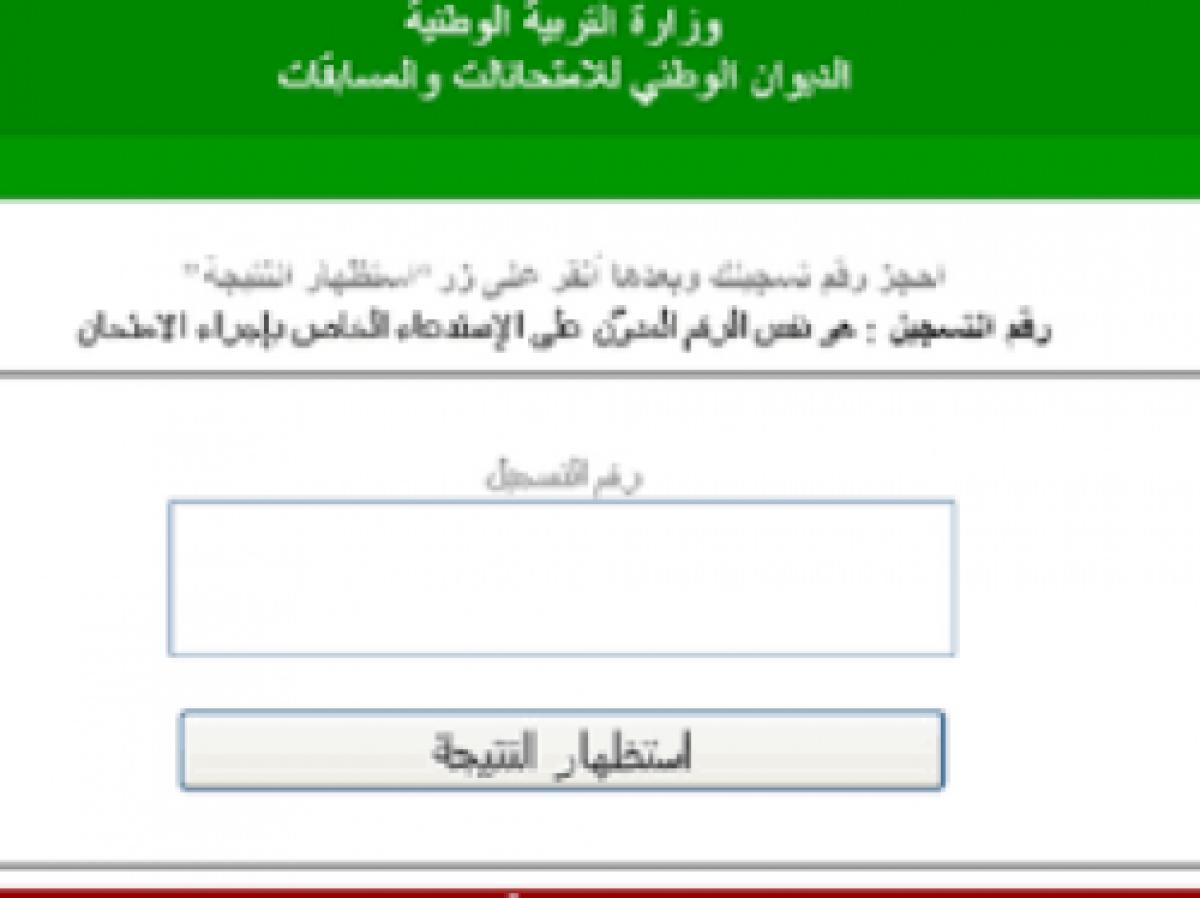 نتائج شهادة التعليم المتوسط الجزائر عبر الديوان الوطني للامتحانات