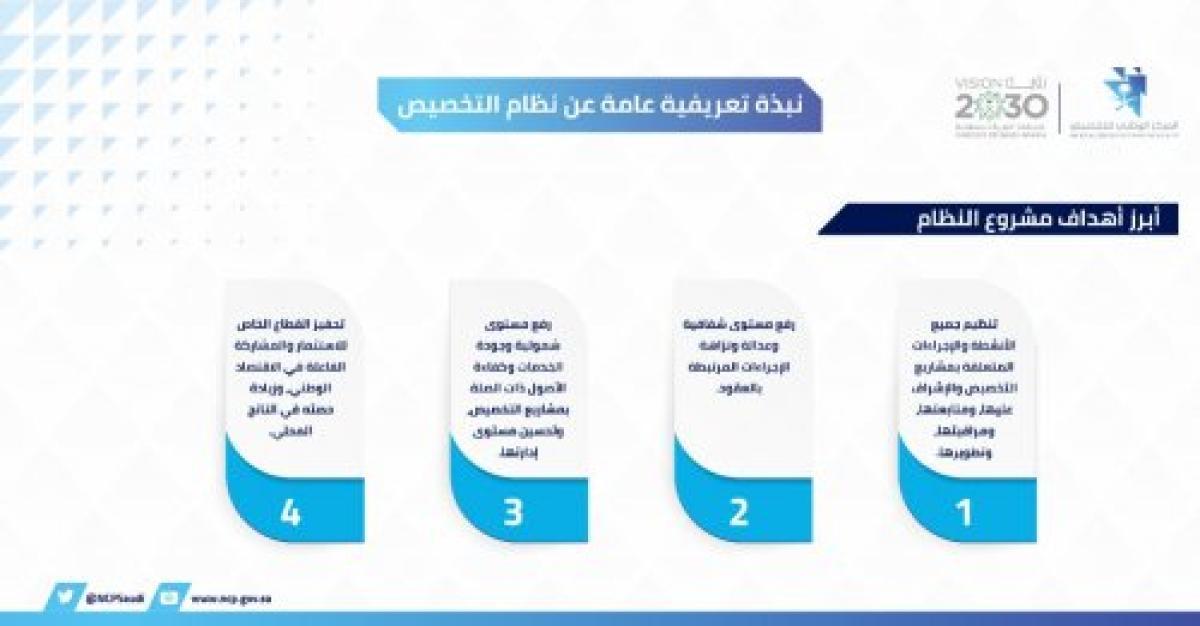 أسماء القطاعات التي تم استثنائها من نظام الخصخصة في المملكة 2021