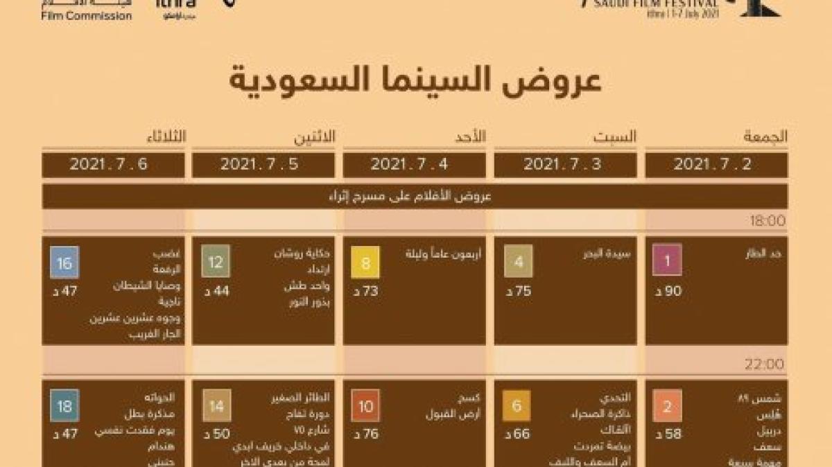 انطلاق مهرجان أفلام السعودية في دورته السابعة