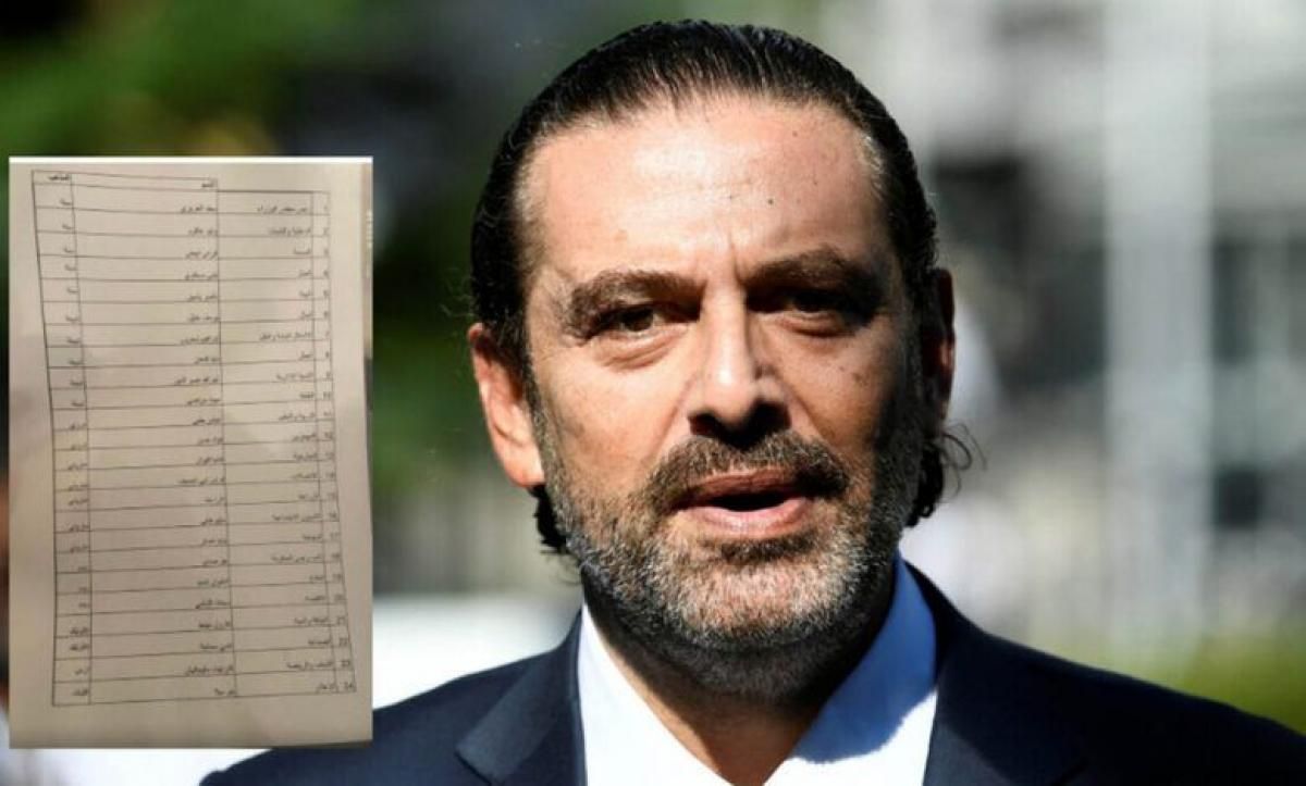 بالأسماء.. تشكيلة حكومة الحريري التي رفضها الرئيس اللبناني ميشال عون (صورة)
