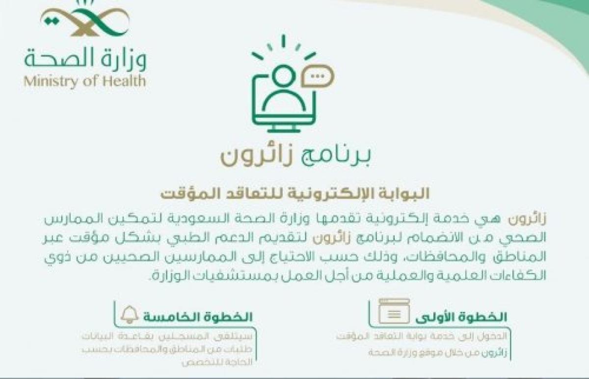 ما هو برنامج زائرون وكيفية التسجيل وزارة الصحة 1442