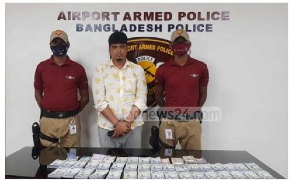 بالصور .. تفاصيل القبض على مسافر بنجلاديشي يُخفي مليونًا و100 ألف ريال في جسده
