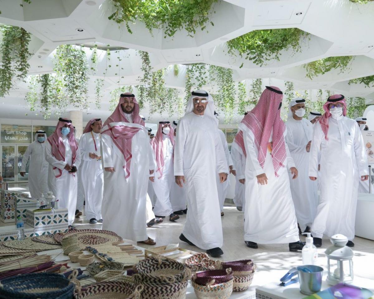 """الشيخ محمد بن زايد: سعدت بزيارة جناح المملكة في """"إكسبو 2020 دبي"""" (صور) محليات"""