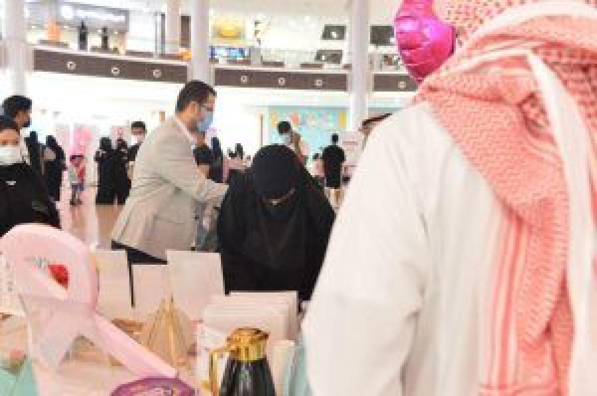 """"""" تخصصي تبوك """" والمراكز الصحية التابعة يشاركون في الحملة الوطنية للتوعية بسرطان الثدي (صور) المناطق"""