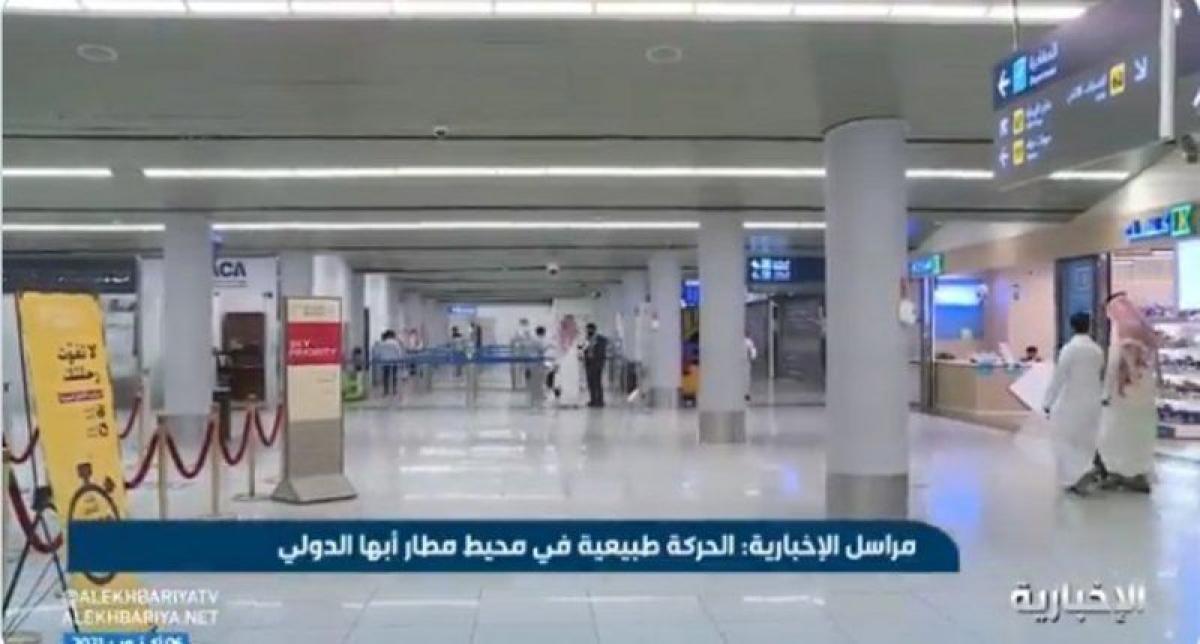 شاهد.. حركة الملاحة بمطار أبها تعود لطبيعتها.. وإجراءات السفر تتم