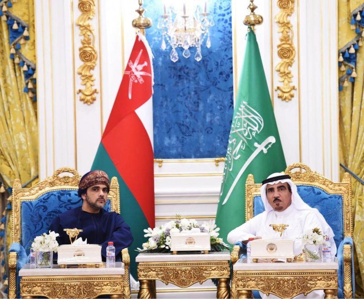 عبدالله العثيم يحتفي بالسفير العماني لدى المملكة العربية السعودي